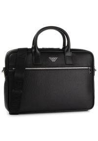 Czarna torba na laptopa Emporio Armani