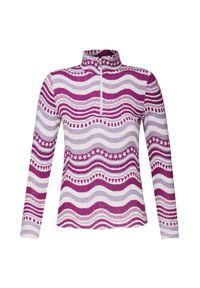 Różowy sweter Chervo z aplikacjami, z golfem