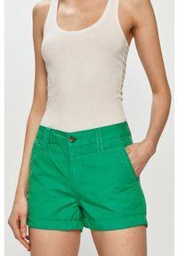 Pepe Jeans - Szorty Balboa. Okazja: na co dzień. Kolor: zielony. Materiał: tkanina. Wzór: gładki. Styl: casual