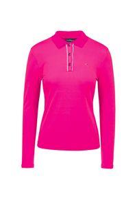 Różowa koszulka polo Chervo na zimę, w jednolite wzory