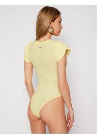 Guess Body Ss Jabin W1GP14 KANJ0 Żółty Slim Fit. Kolor: żółty