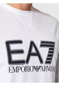 EA7 Emporio Armani Bluza 6KPM60 PJ05Z 1100 Biały Regular Fit. Kolor: biały