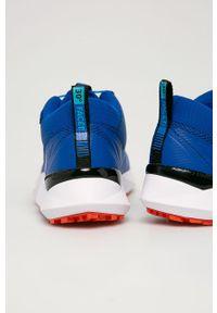Sneakersy columbia z okrągłym noskiem, z cholewką, na sznurówki