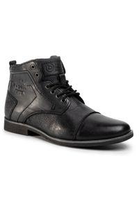 Czarne buty zimowe Bugatti z cholewką