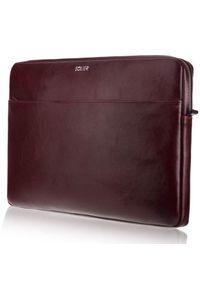Czerwone etui na laptopa Solier eleganckie