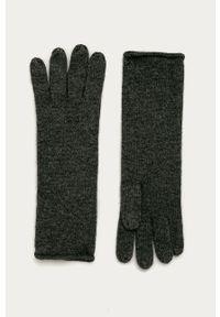 Szare rękawiczki AllSaints melanż
