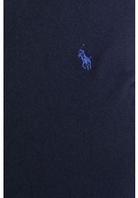 Niebieski sweter Polo Ralph Lauren polo, długi, na co dzień
