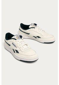 Białe sneakersy Reebok Classic na sznurówki, z okrągłym noskiem #5
