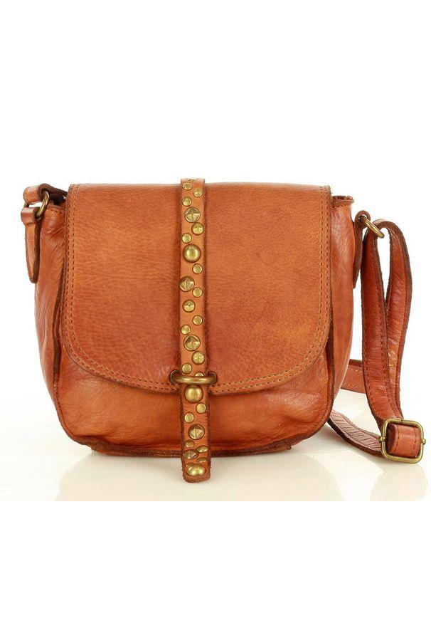 Marco Mazzini handmade - Torebka Listonoszka Saddle Bag dżety- Camel
