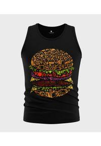 MegaKoszulki - Koszulka męska bez rękawów Burger. Materiał: bawełna. Długość rękawa: bez rękawów
