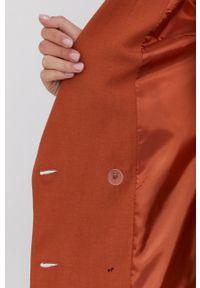 Answear Lab - Marynarka. Okazja: na co dzień. Kolor: pomarańczowy. Materiał: tkanina. Wzór: gładki. Styl: wakacyjny
