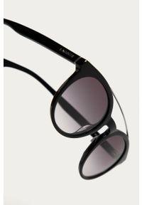 Czarne okulary przeciwsłoneczne Lacoste okrągłe