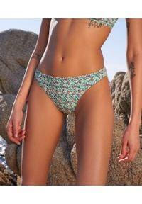 Wielokolorowy strój kąpielowy dwuczęściowy Etam w kolorowe wzory