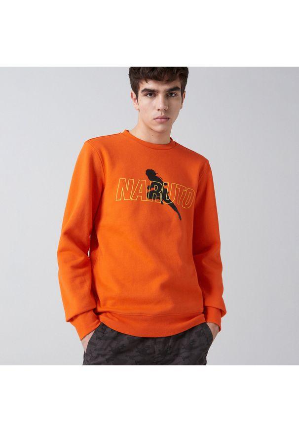 Pomarańczowa bluza Cropp