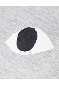 COMME DES GARCONS PLAY - Szara bluzka z dużym sercem. Kolor: szary. Materiał: bawełna, jeans. Długość rękawa: długi rękaw. Długość: długie #3