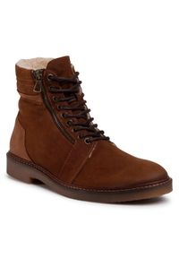 Brązowe buty zimowe QUAZI z cholewką