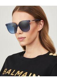 Fendi - FENDI - Okulary przeciwsłoneczne. Kształt: okrągłe. Kolor: niebieski