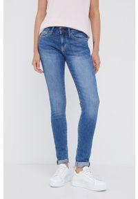 Pepe Jeans - Jeansy Pixie. Kolor: niebieski