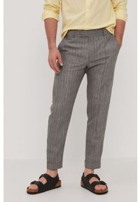 Strellson - Spodnie. Okazja: na co dzień. Kolor: szary. Materiał: tkanina. Styl: casual
