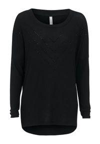 Czarny sweter Soyaconcept elegancki, z aplikacjami