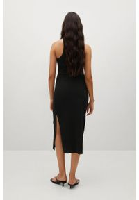 mango - Mango - Sukienka Sprio. Kolor: czarny. Materiał: dzianina. Typ sukienki: dopasowane #6