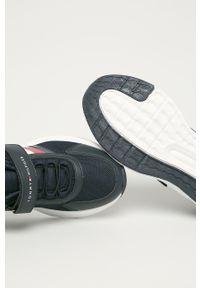 Niebieskie buty sportowe TOMMY HILFIGER z cholewką, na rzepy