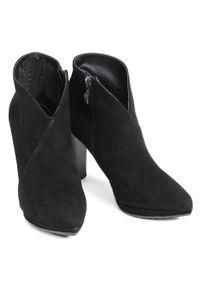 Czarne botki Oleksy na obcasie, na średnim obcasie #6