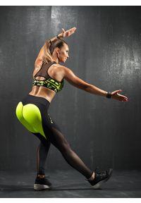 FJ! - Legginsy POSH lime. Materiał: poliester, dzianina, skóra, elastan. Sport: joga i pilates, fitness, taniec