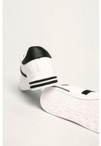 Białe buty sportowe ANSWEAR na sznurówki, z okrągłym noskiem
