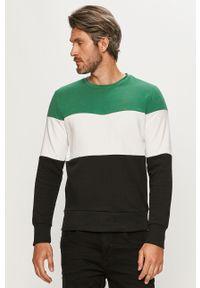 Zielona bluza nierozpinana Brave Soul casualowa, z okrągłym kołnierzem, na co dzień