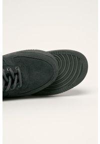 Szare buty sportowe Big-Star na sznurówki, z cholewką