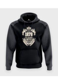 MegaKoszulki - Bluza męska dwukolorowa Premium Urodziny + Twój miesiąc, rok, wiek. Okazja: na urodziny. Materiał: bawełna