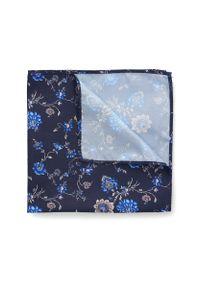 Niebieska poszetka Lancerto w kwiaty