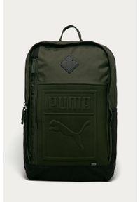 Zielony plecak Puma z aplikacjami