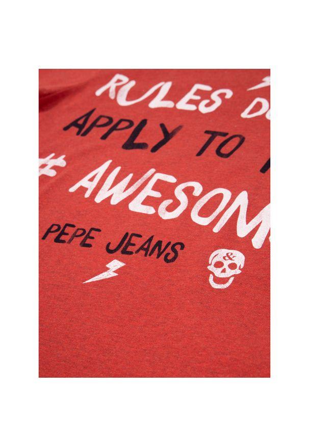 Czerwony t-shirt Pepe Jeans