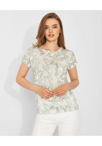 HEMISPHERE - Lniana bluzka w kwiaty. Kolor: biały. Materiał: len. Wzór: kwiaty. Sezon: lato, wiosna