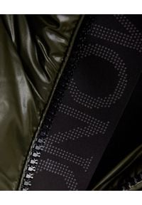 MONCLER - Zielony płaszcz puchowy Ribafur. Kolor: zielony. Materiał: puch. Długość rękawa: długi rękaw. Długość: długie. Wzór: aplikacja. Sezon: zima #3