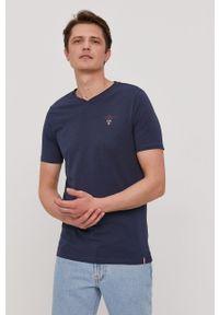 Aeronautica Militare - T-shirt. Okazja: na co dzień. Kolor: niebieski. Materiał: dzianina. Wzór: gładki. Styl: casual