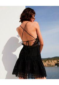 CHARO RUIZ IBIZA - Czarna sukienka mini Rachel. Okazja: na randkę. Kolor: czarny. Materiał: koronka, bawełna. Długość rękawa: na ramiączkach. Styl: wakacyjny. Długość: mini