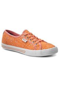 Pomarańczowe trampki Pepe Jeans