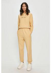 Samsoe & Samsoe - Samsoe Samsoe - Spodnie. Kolor: żółty. Materiał: dzianina. Wzór: gładki #2