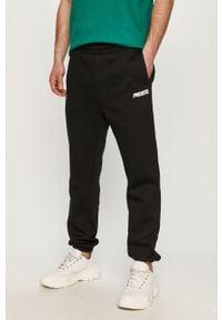 Czarne spodnie dresowe Prosto. gładkie