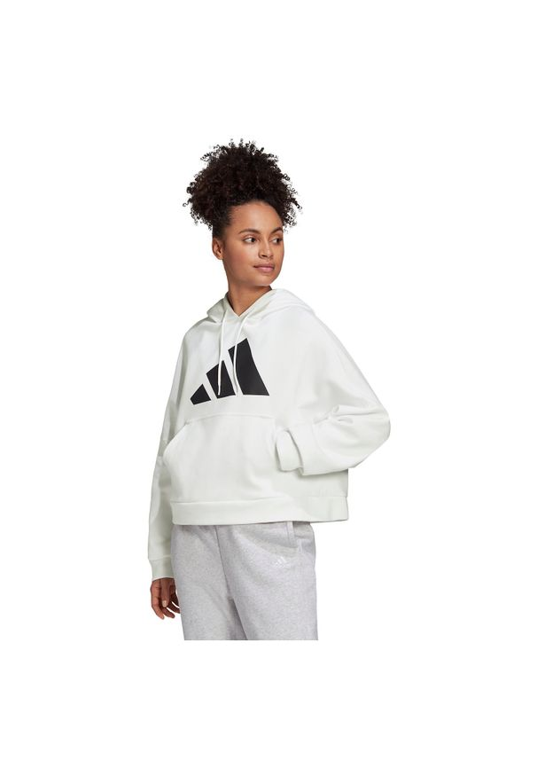 Adidas - Bluza damska adidas Back Zip Graphic Hoodie GC9168. Typ kołnierza: kaptur. Materiał: skóra, poliester, materiał. Sport: fitness