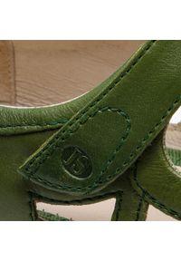 Zielone półbuty Josef Seibel z cholewką, na płaskiej podeszwie