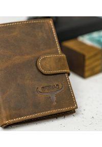 BUFFALO WILD - Skórzany portfel męski j. brązowy Buffalo Wild RM-04L-HBW TAN. Kolor: brązowy. Materiał: skóra