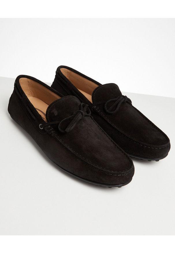 TOD'S - Czarne mokasyny Gommino City. Nosek buta: okrągły. Kolor: czarny. Styl: klasyczny