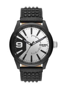 Diesel - Zegarek DZ1963. Kolor: czarny. Materiał: skóra, materiał