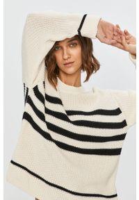 Kremowy sweter Answear Lab z długim rękawem, wakacyjny, długi
