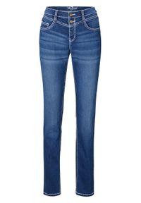 Dżinsy SLIM bonprix niebieski. Kolor: niebieski