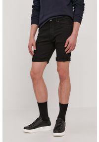 Selected - Szorty jeansowe. Okazja: na co dzień. Kolor: czarny. Materiał: jeans. Styl: casual